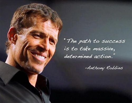 The path to success is to take massive determined action.......true true