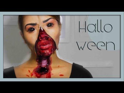 Halloween Zipface mit offener Speiseröhre - YouTube