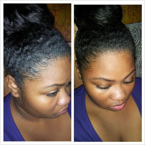 """My naturally curly protective style... I call it the """"wrap bun"""" because I don't tuck it or rubber band it...  I wrap my hair around and pin it!"""