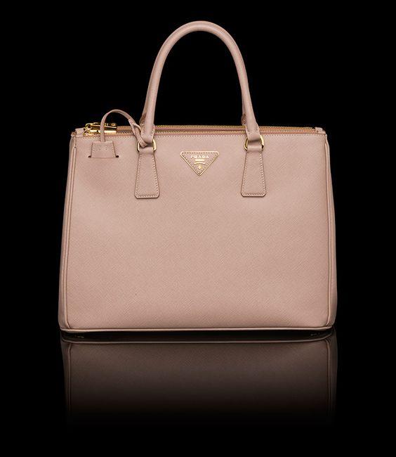 replica handbag prada - Bn2274 Prada Saffiano double zip tote in Cameo with detachable ...