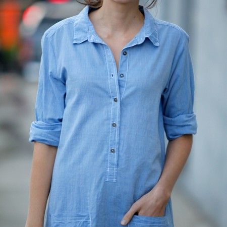 Velvet Hestia Chambray Shirt Dress