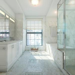 Chrome Framed Bathroom Mirror