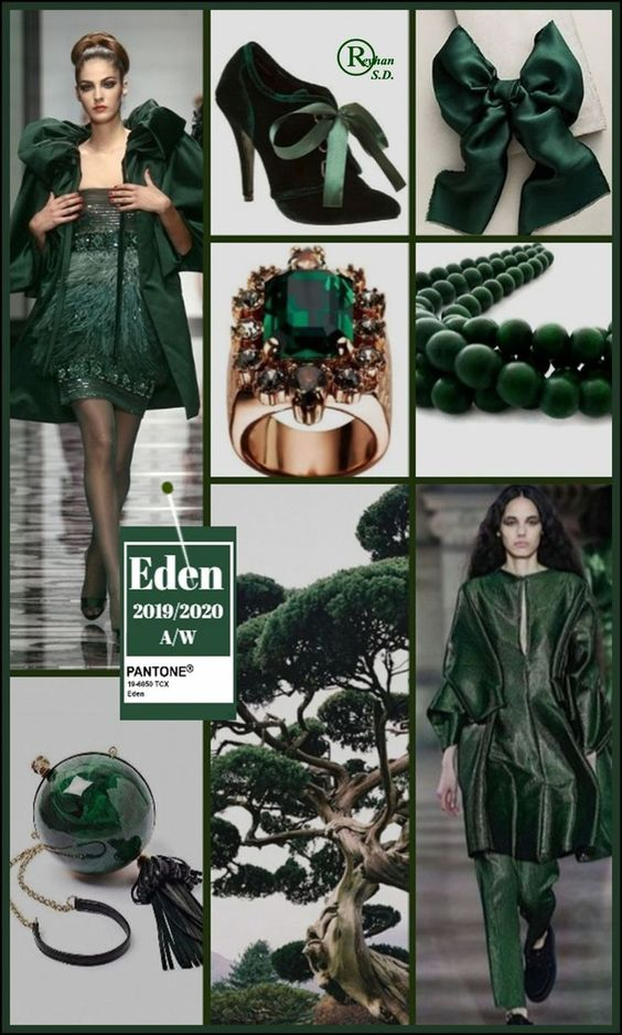'' Eden '' Pantone - Fall / Winter 2019/2020 Color- by Reyhan SD