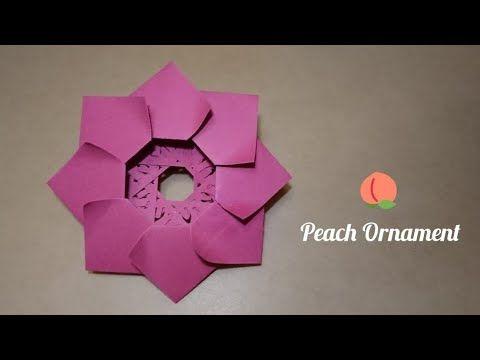 Origami Peach Star Ornament 8 Point Star 折纸桃形星