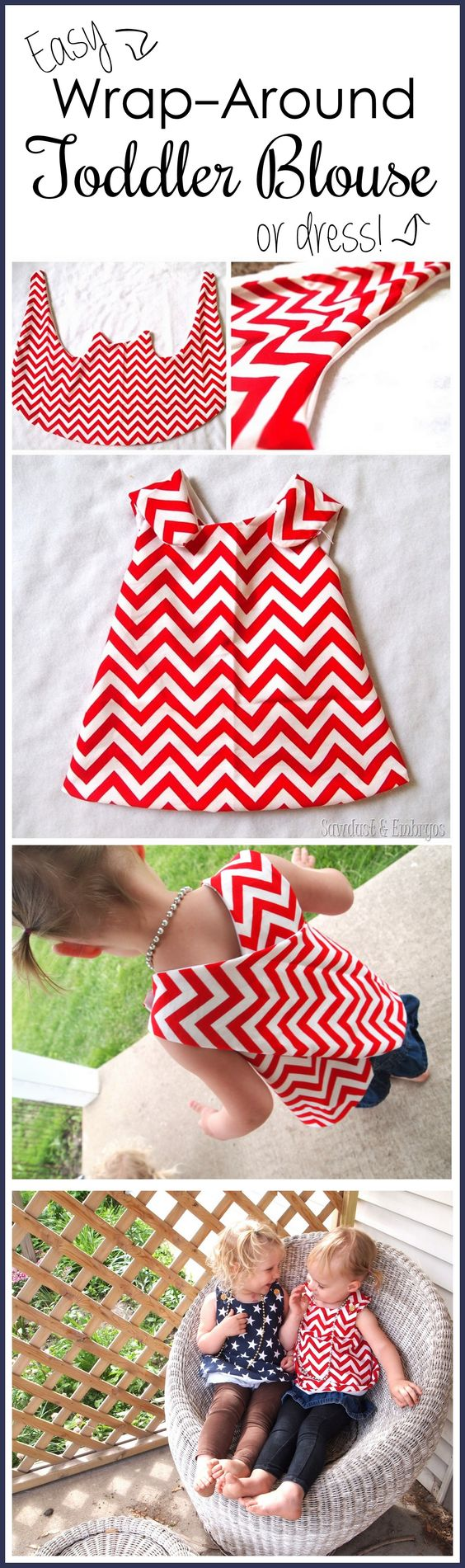 Suuuper simple wrap-around dress tutorial... so cute for toddlers! {Sawdust and Embryos}: