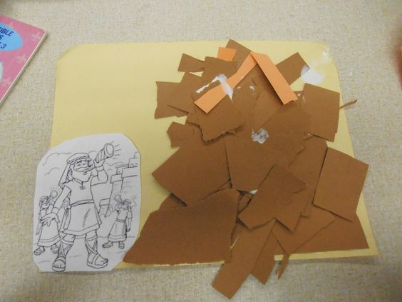 The o 39 jays battle of jericho and the battle on pinterest for Joshua crafts for sunday school