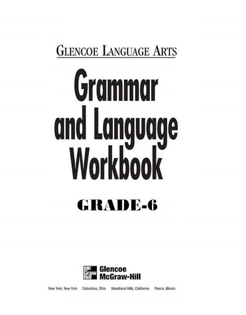 Grammar And Language Workbook Grade 11 By Glencoe Language Arts Free Printable Pdf File Click The Download Button Below Workbook Grammar Grammar Workbook