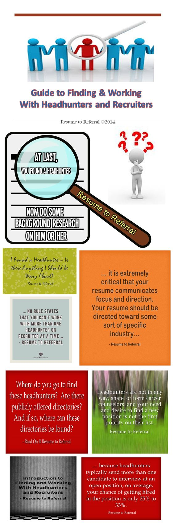 guide to finding working w headhunters recruiters pic guide to finding working headhunters and recruiters infographic