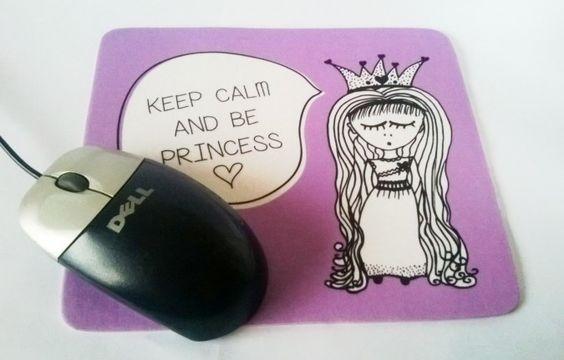 """Mousepad Princess """"Keep Calm"""""""