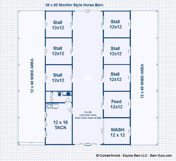 6 Stall Horse Barn Plans Dream Barn All The Pretty
