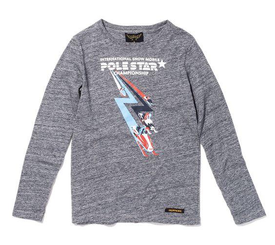 Long John Heather Coal Snow Speed - Long Sleeve Tee Shirt