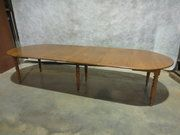 French Fruitwood and Beech Extending Dining Table £2200