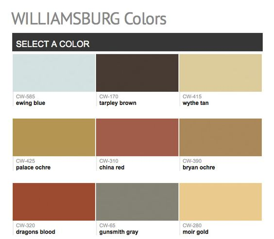 Paints From Hirshfield 39 S Williamsburg Colors Benjamin Moore Paints Man Cave Honey Do List