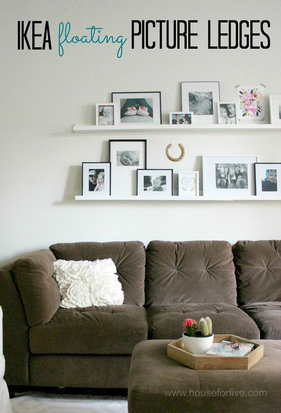 IKEA picture ledges, photo gallery ... houseforfive