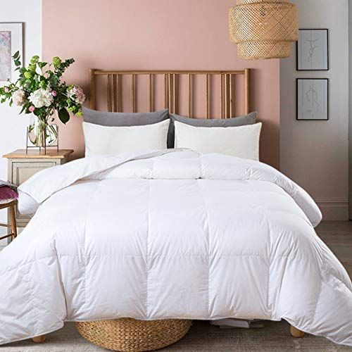 Ubauba All Season Down Comforter 100 Cotton Hypoallergenic Quilted Feather Comforter With Co In 2020 Down Comforter Feather Comforter White Down Comforter