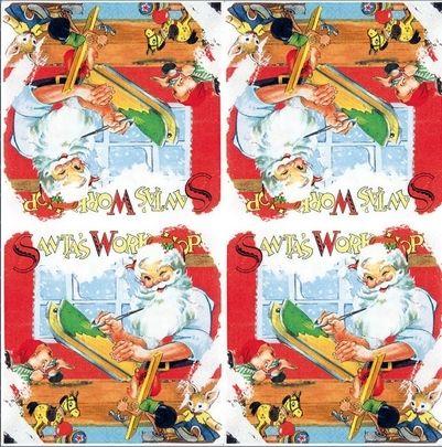 2183 Servilleta decorada Navidad