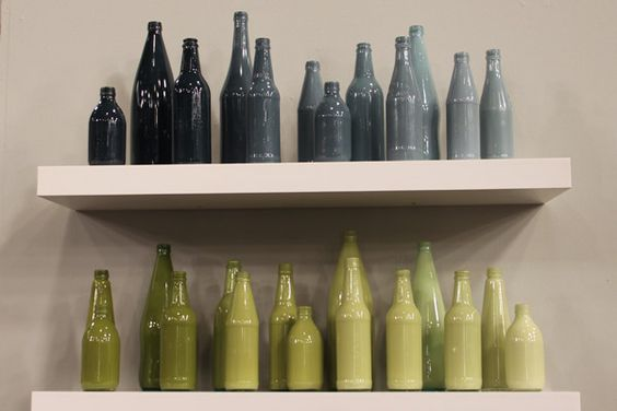 DIY: colored glass bottles.