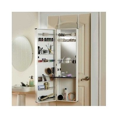 If you don  39 t have a wall to hang a medicine cabinet or shelving unit  add an over the door beauty armoire   it  39 s a great small bathroom storage idea. Over the Door Mirror Make Up Cosmetic Medicine Cabinet Vanity