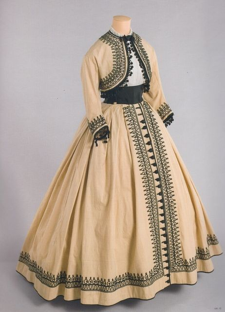 """Summer bolero jacket and skirt ca. 1867  From """"Impressionism and Fashion"""" at the Musee d'Orsay via nuescha:"""