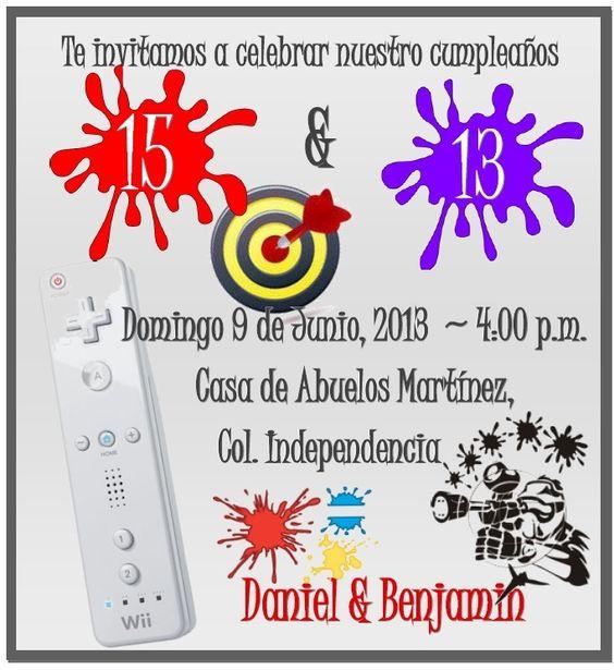 Boys birthday party Fiesta para niños de 13 y 15 años
