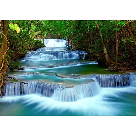 Vlies Fototapete 'Wasserfall' 352x250 cm - 9036011b RUNA Tapete ...