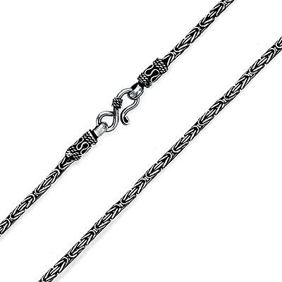 3MM 925 Sterling Silver Snake Chain Necklace Solid Silver Jewelry Women Italy