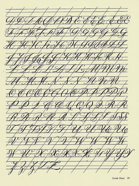 Copperplate practice sheet via flickr calligraphy