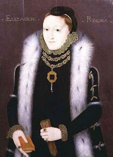 The Clopton Portrait of Elizabeth I c. 1558-1560. Artist unknown.