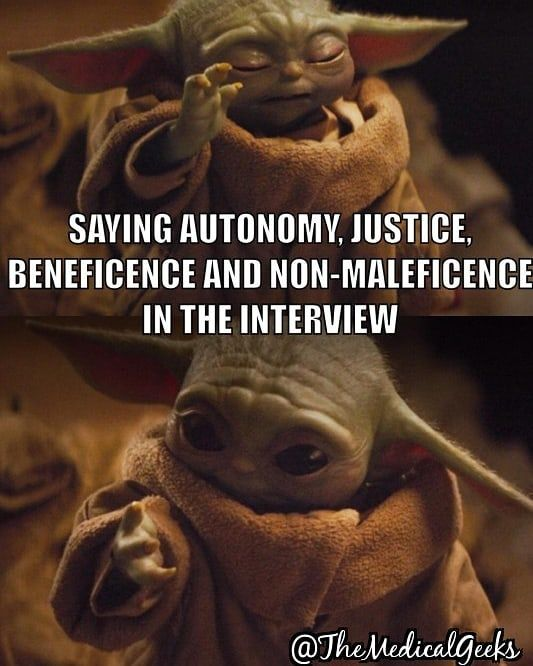 It Really Is That Simple For Ethics Even Baby Yoda Can Do It Dm Us If You Need Interview Tips Make Sure To Follow U Interview Tips Nursing Students Yoda