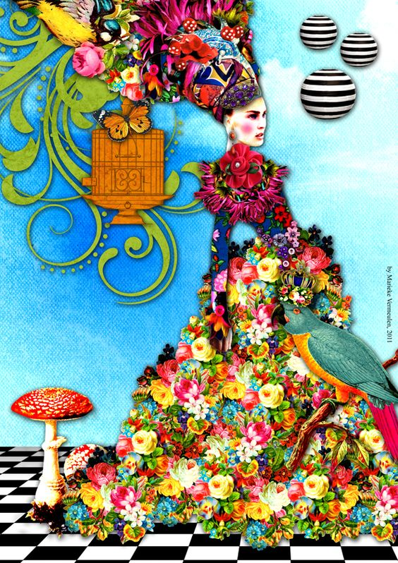 Fashion Illustration - Digital Collage by Marieke Vermeulen at Coroflot: