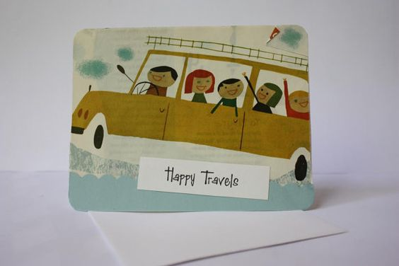 Happy Travels 50's Style Mini Collage Card made by ladybugonaleaf, $2.75