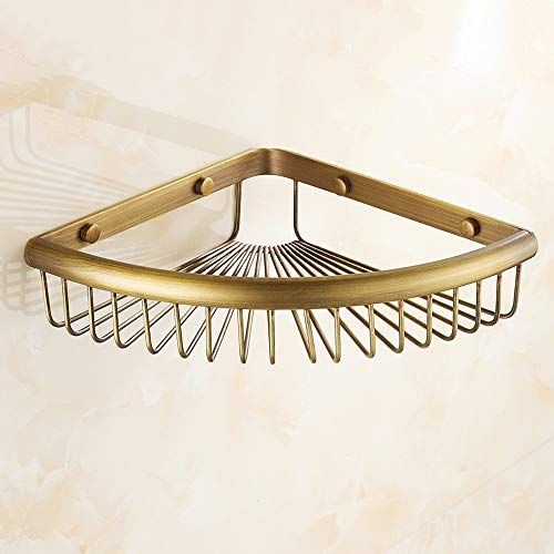 Antique Solid Brass Bathroom Soap Dish Holder Wall Mounted Soap Storage Basket