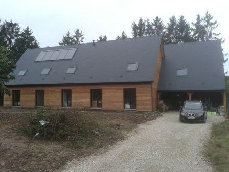 Fin du chantier de cette maison en ossature bois dans l'Eure et loir