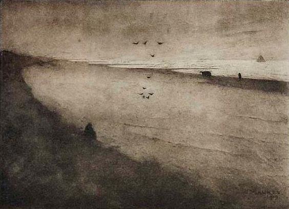 The Beach at Scheveningen - Jan Mankes 1915-1916. Dutch 1889-1920 Coll. Rijksprentenkabinet, Amsterdam: