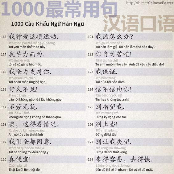 1000 Chinese Sentences In Daily Life Part 8