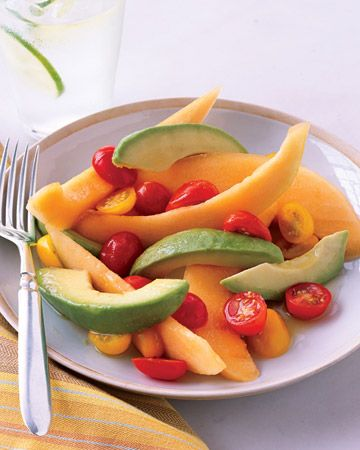 Cantaloupe and Avocado Salad with Honey-Lime Dressing