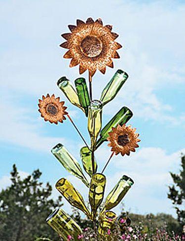 Bottle Tree Sunflowers