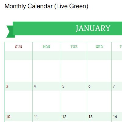 Download templates for calendars and planners for for Evernote daily planner template