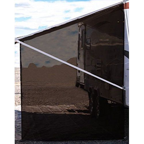 Tentproinc Rv Awning Side Sun Shade Mesh Screen 9 X7 Brown Complete Kits Drop Motorhome Trailer Sun Blocker Retractable Awning Shade Awning Travel Collection