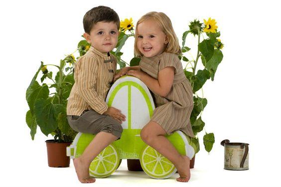 Pantalón bombacho y camisa rayas Lemon Car Kids www.muxugorri.com