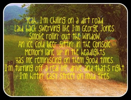 for real...it's where I live...dirt road livin'!