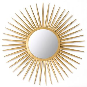 Let the sunshine in with our gold Sun Flair mirror, which is just at home in a traditional space as it is a modern one.