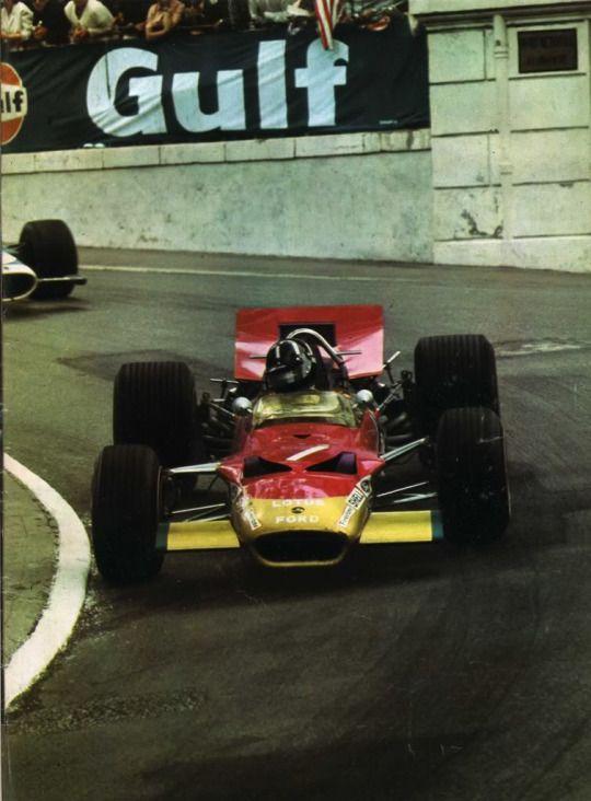 Graham Hill  Lotus Ford Monaco 1969