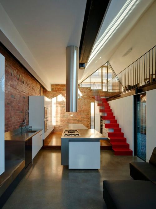 A home by Andrew Maynard.  Love the brick