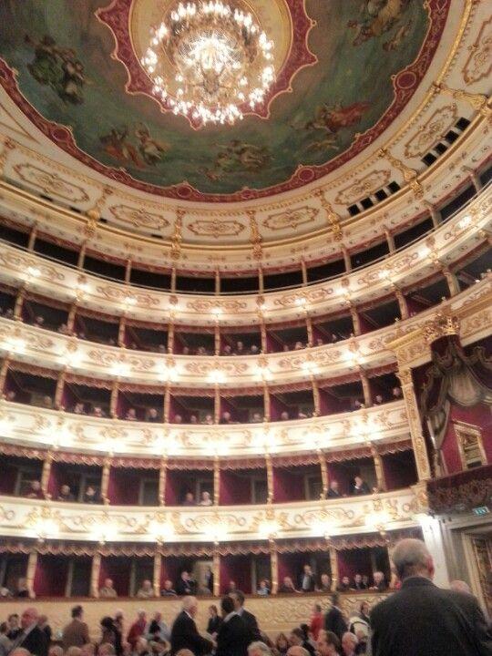 Interno del Teatro Regio a Parma, Emilia-Romagna