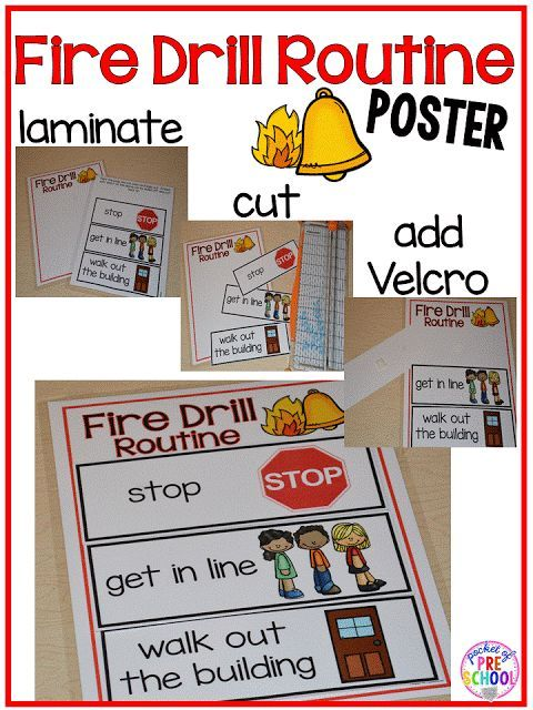 Fire Drill Book - Making Fire Drills Less Stressful - Pocket of Preschool