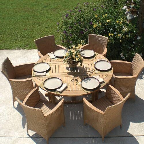 Royal Teak Round Drop Leaf Patio Dining Table - Patio Tables at Hayneedle