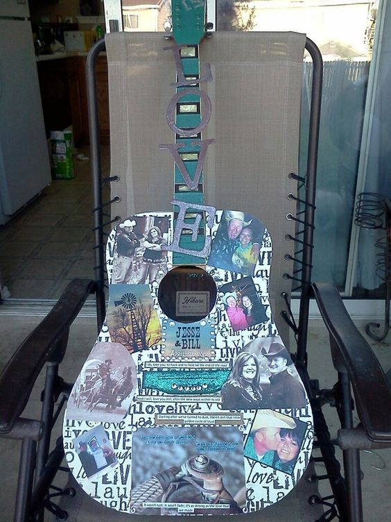 Old Guitar turned into Wall Art!