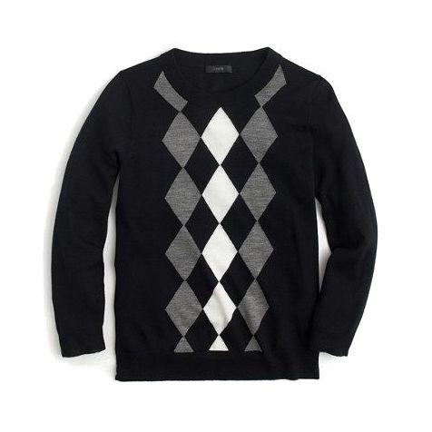 J.Crew Tippi Argyle Sweater