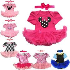 Toddle Baby Infant Clothes Dress Girl Party Outfits Tutu Newborn Romper+Headband